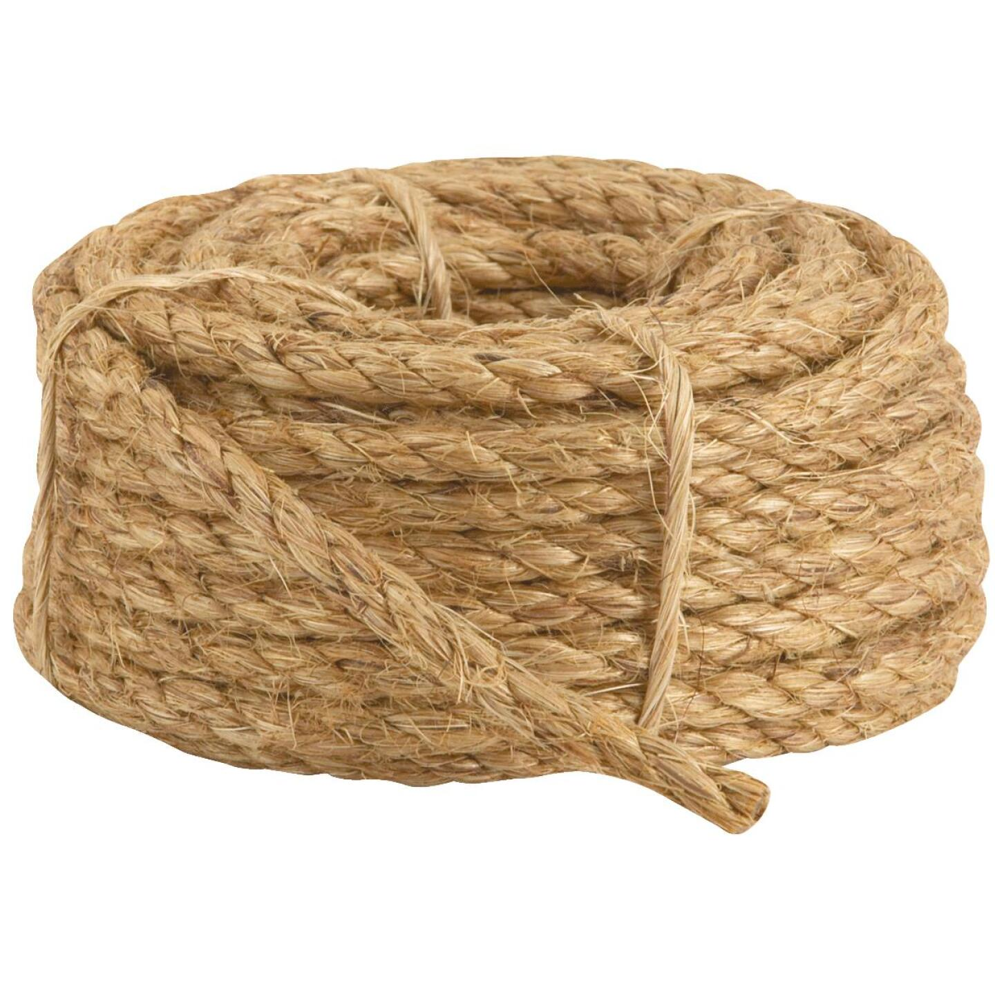Do it 3/8 In. x 50 Ft. Natural Twisted Manila Fiber Packaged Rope Image 2